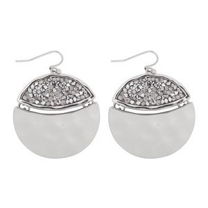 Riah Fashion faceted glitter round dangle earrings